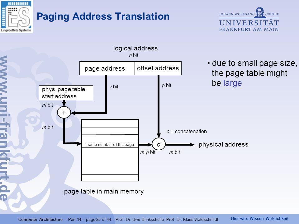 Paging Address Translation