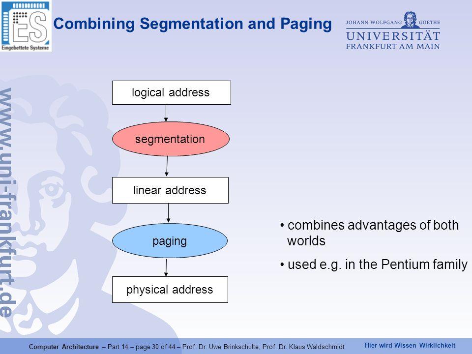 Combining Segmentation and Paging