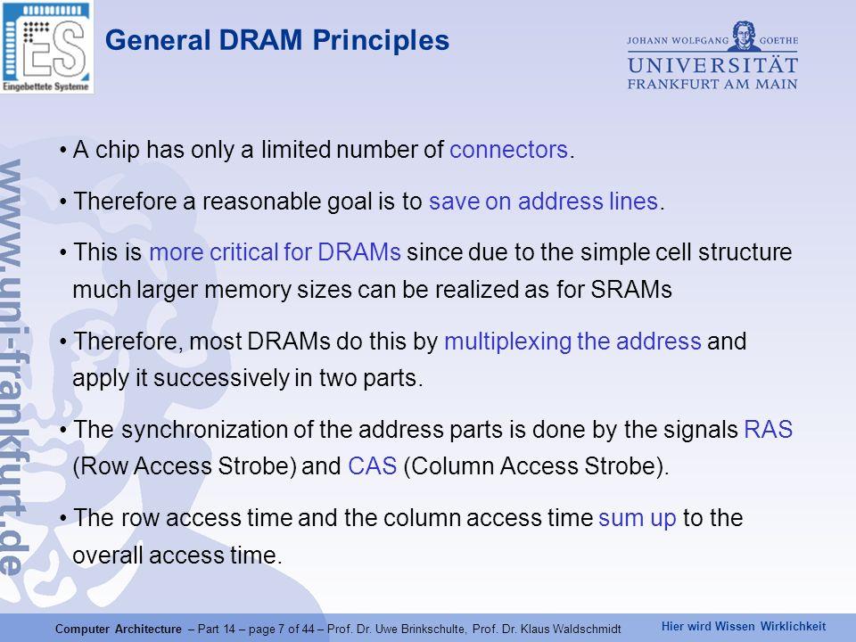 General DRAM Principles