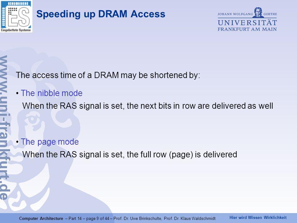 Speeding up DRAM Access