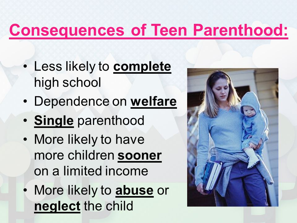 teenage parenthood 1 1 moral panics and new labour policy teenage parenthood is typically depicted as a calamity for individual young women and as a severe problem for society.