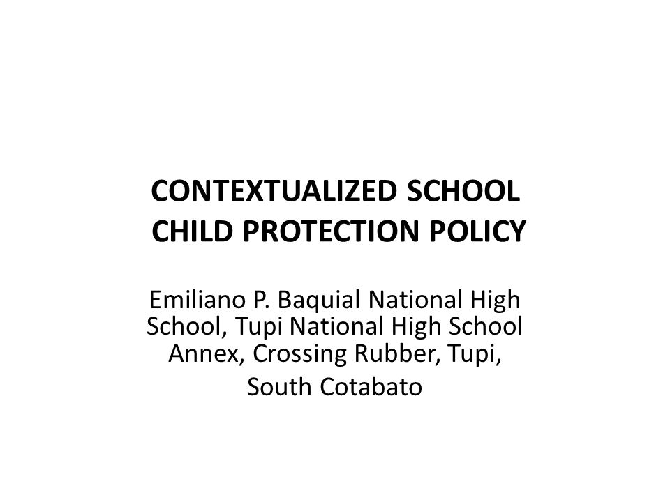child protection policy in the philippines tagalog