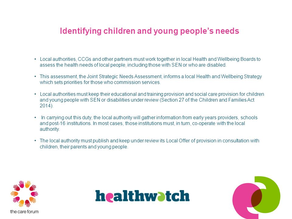 Identifying children and young people's needs
