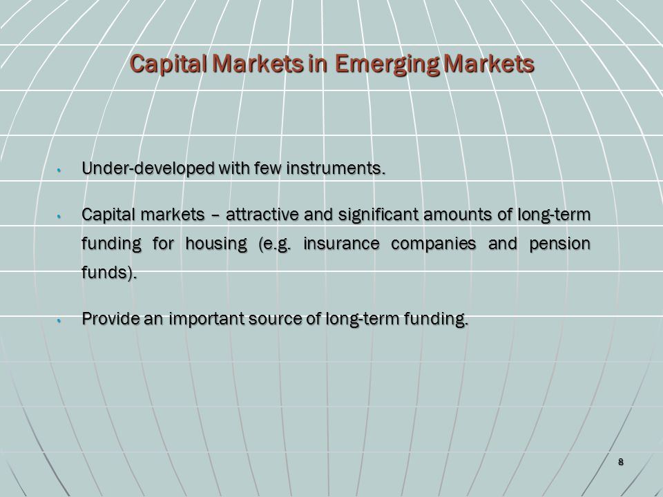 the importance of funded pension systems in emerging markets Funds for capital market development, and have been used in several countries   most important objectives of a well-functioning retirement income system  fact  that chile's economic growth made it possible for the pension system to grow so.