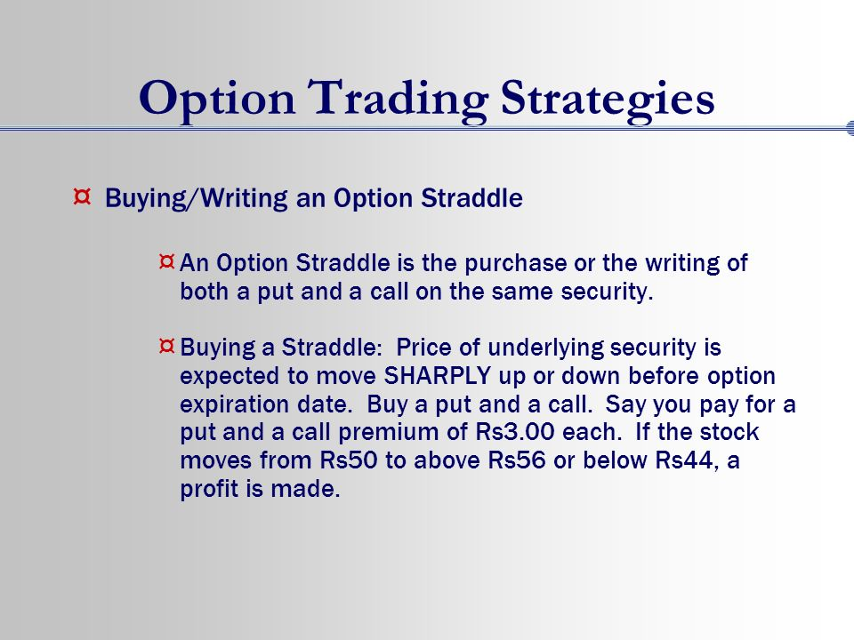Option spread strategies trading up down and sideways markets download