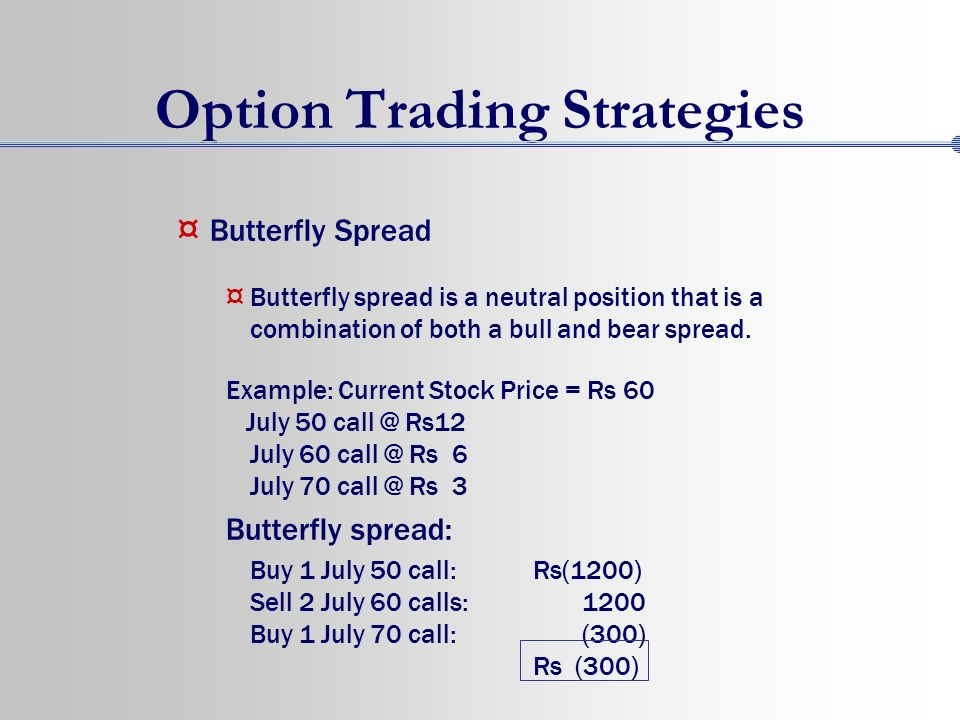 Profit from options trading strategies