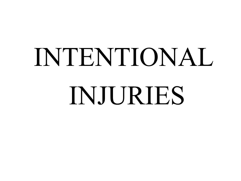 Intentional Injuries Ppt Download