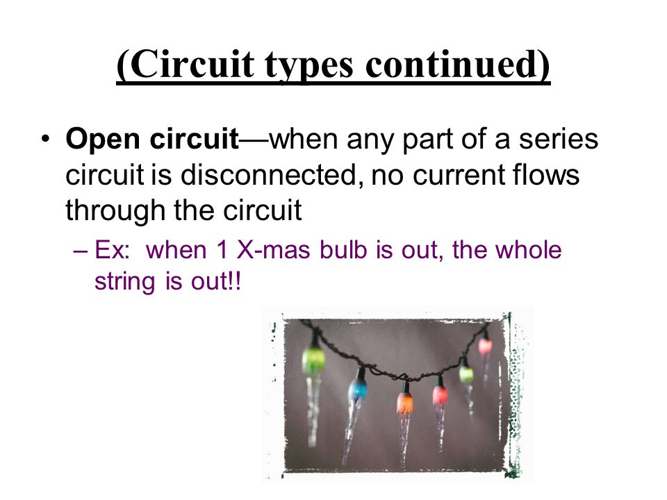 (Circuit types continued)