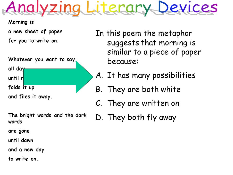 the literary devices and techniques in Literary techniques, on the contrary, are structures usually a word s or phrases in literary texts that writers employ to achieve not merely artistic ends but also readers a greater understanding and appreciation of their literary works.