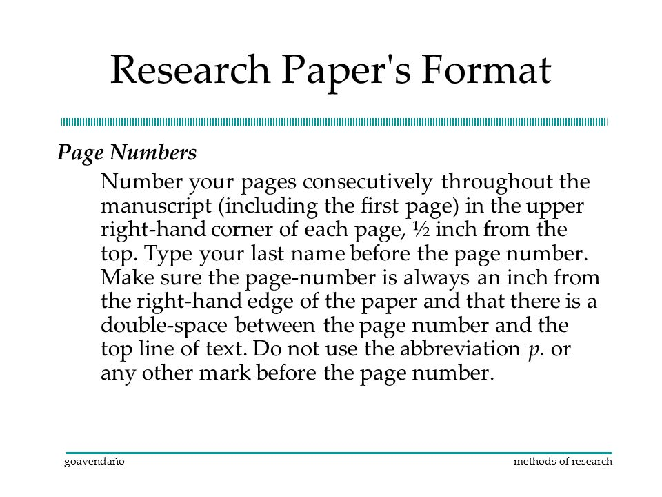 research papere format Introductions to research papers in psychology have many formats in this tutorial you will learn one format as you go on in research writing, you may modify,.