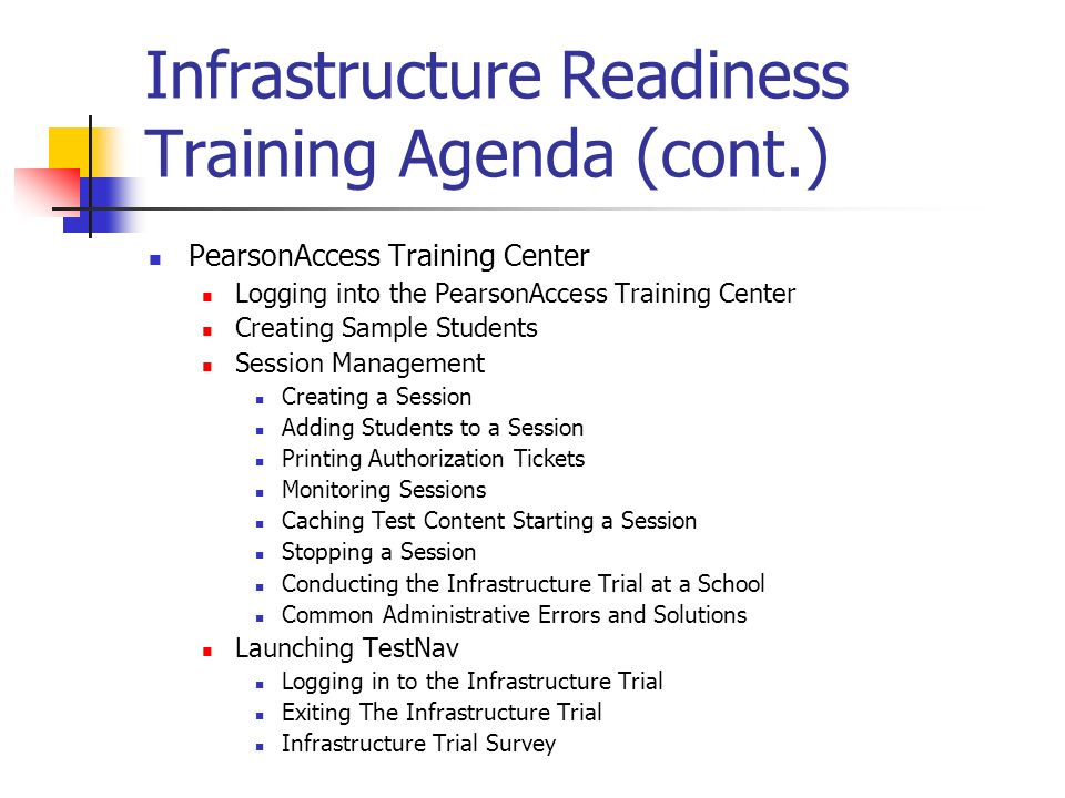 Infrastructure Readiness Training - Ppt Download