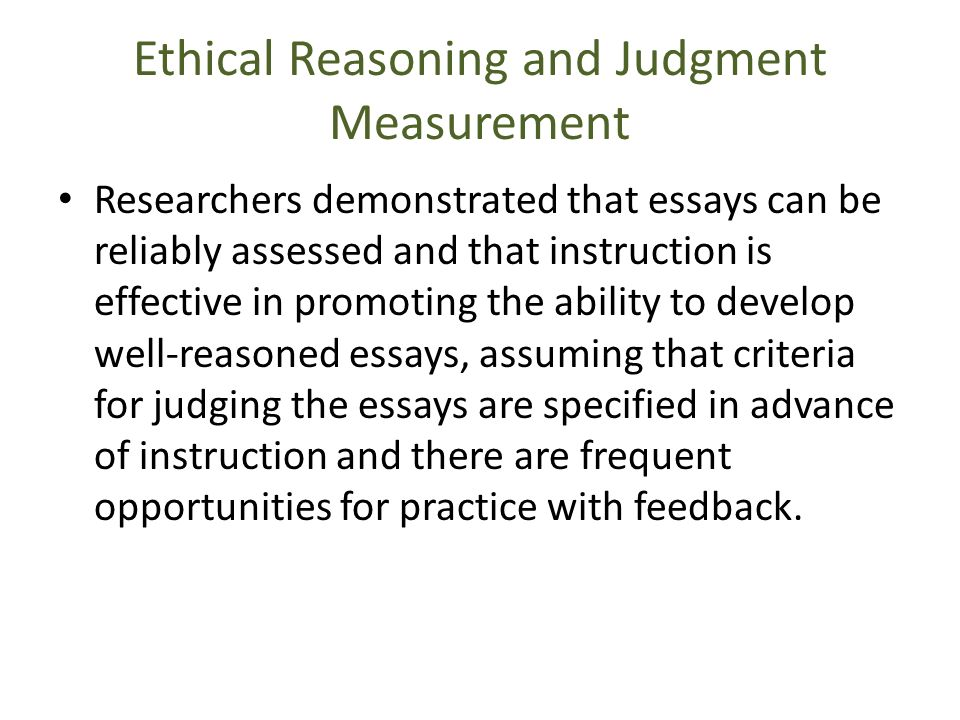 ethical reasoning essay example Seminar group: 01 word count: 1095| briefly lay out, in bulleted-form in the space provided within this page (ie, do not elaborate), the content of your write-up in addressing the various criteria in the ethical reasoning rubric| criteria| your points| 1.