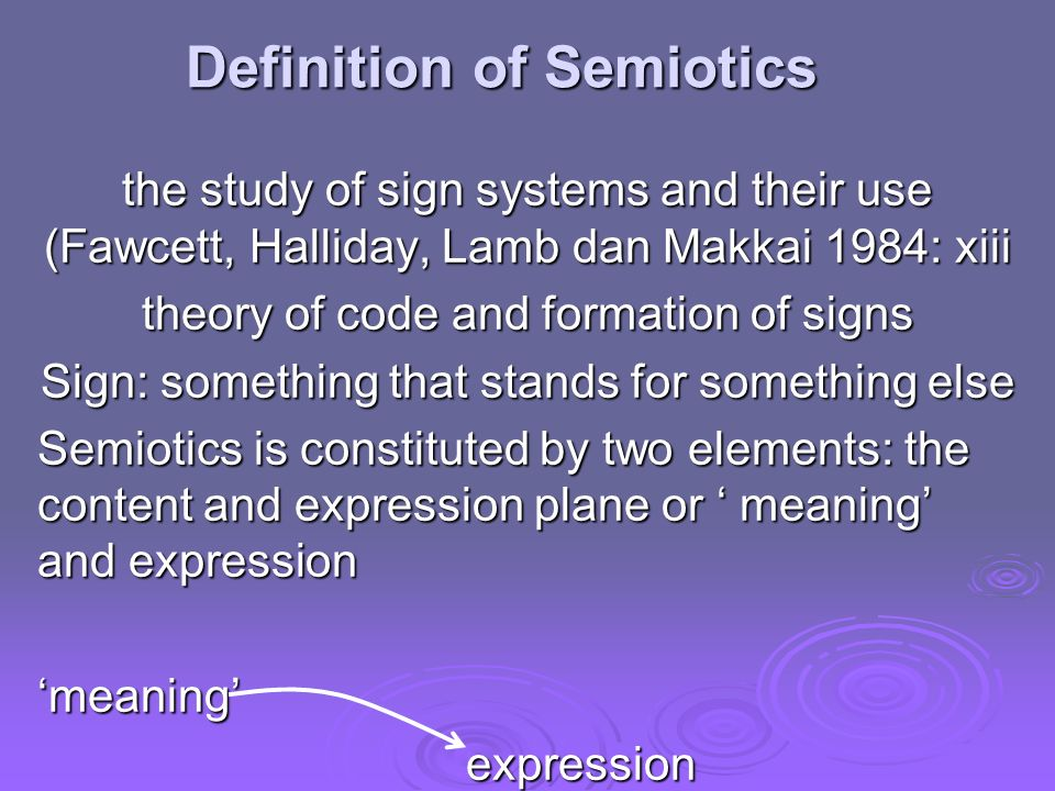 The architectural theory of semiotics