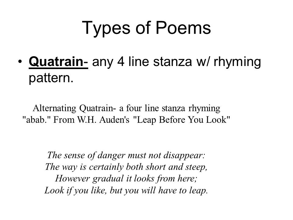 4 stanza poem with rhyme 4 stanza poem with rhyme the charlotte doyle media poetry project poems due before april vacation powerpoint due after vacation total point value: 200 points 150 points for poetry/ 50 points for media appearance to complete this unit, you will be creating a poetry powerpoint that chronicles (or records) five important events from the true confessions of charlotte doyle.