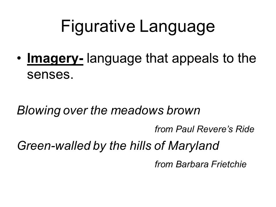 an analysis of imagery as a language that appeals to the senses A close study and analysis of language  senses hence, imagery or figurative language,  of imagery even though the god of small things.