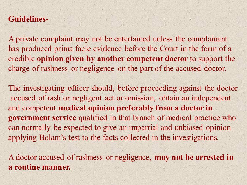 Medical Negligence: Civil v Criminal; Issue Settles - ppt download