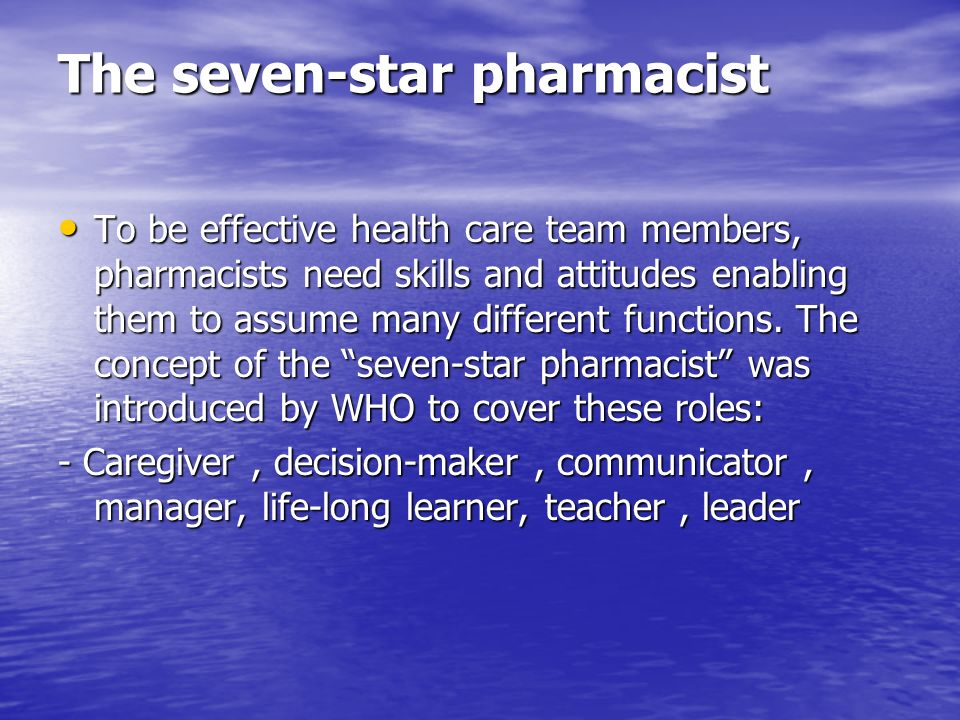 The seven-star pharmacist