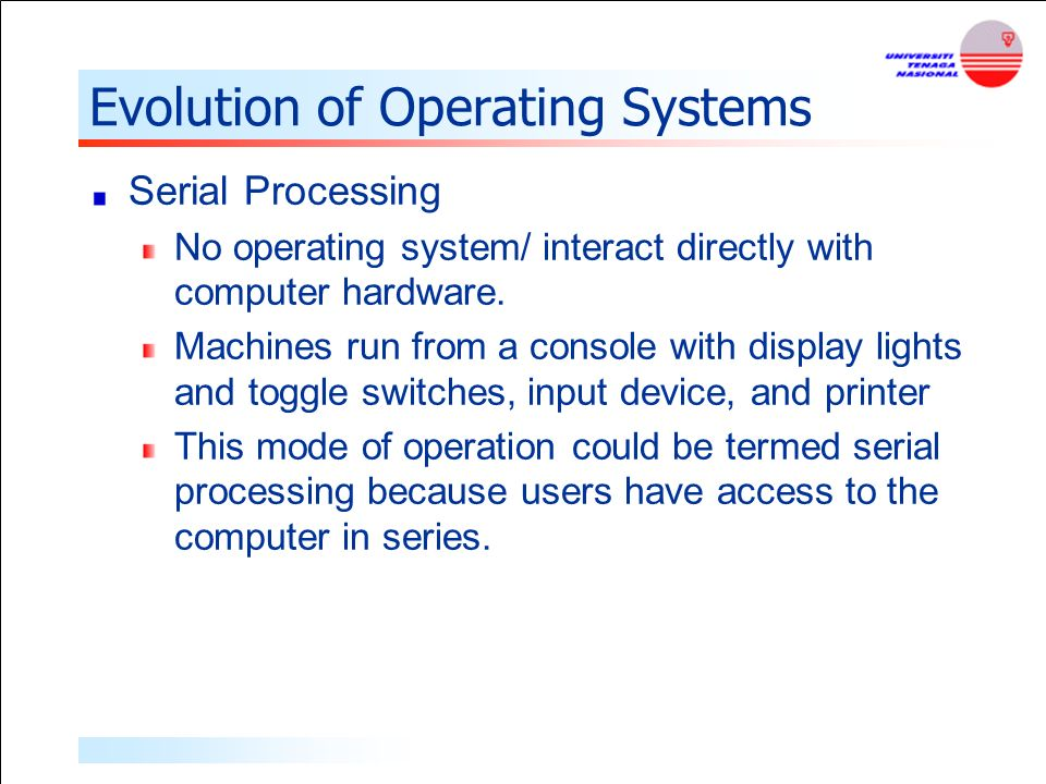 evolution of the operating system