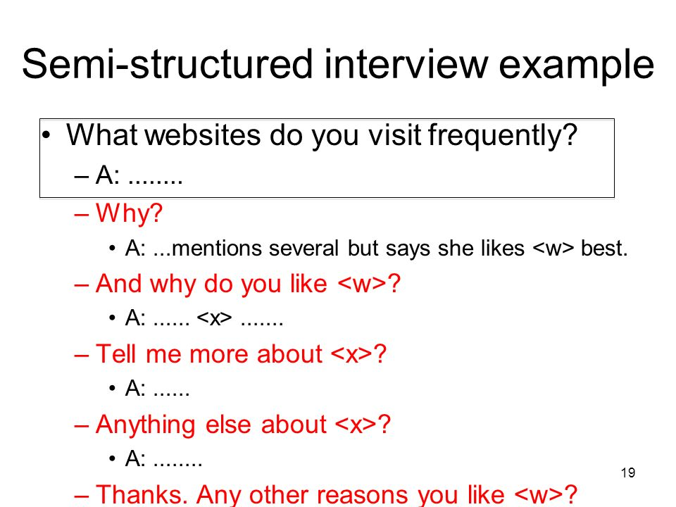 structured interview Learn structured interviews with free interactive flashcards choose from 313 different sets of structured interviews flashcards on quizlet.