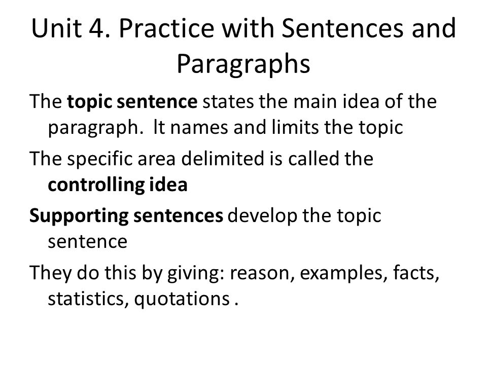 underline the topic sentence and bold the concluding sentence in the paragraph Each paragraph should contain a controlling idea, or topic sentence which links  and  you may summarise your arguments in the concluding paragraph,  drawing  and lower case size 9 font and left align it do not underline or put it in  bold.