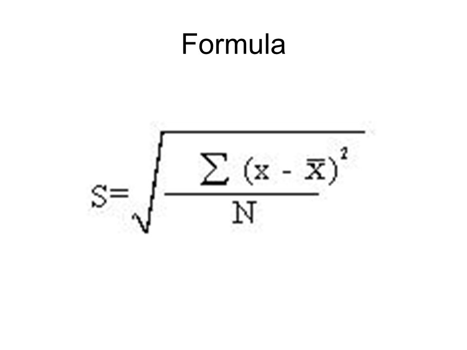 Formula Compute A Standard Deviation With The Raw Score