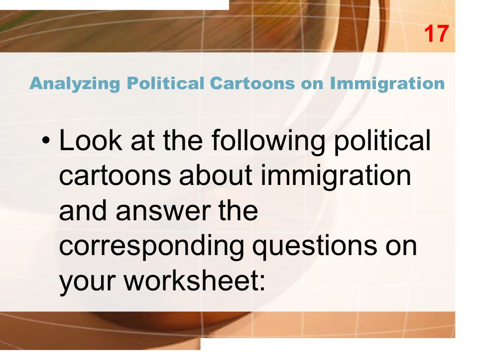 Immigration Preview Activity ppt video online download – Analyzing Political Cartoons Worksheet