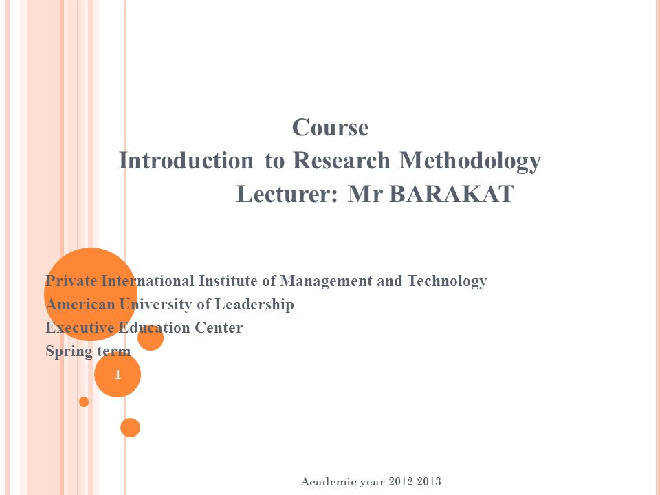 research methodology an introduction 1 information systems research methodology: an  introduction to the debate guy fitzgerald university of warwick  united kingdom.