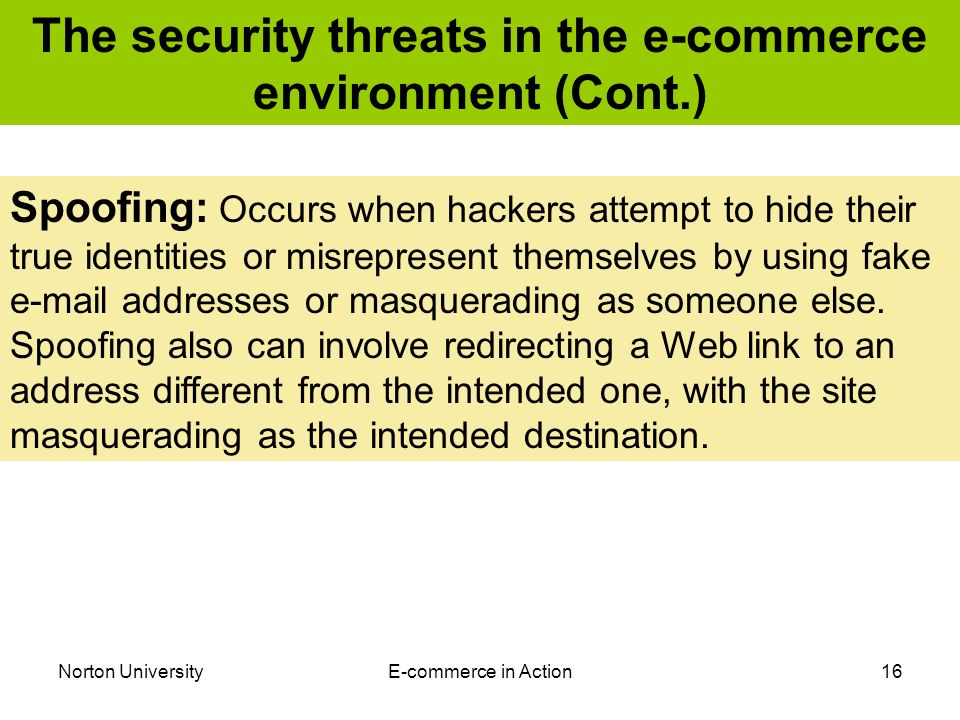 Security Threats & Vulnerabilities to E-commerce Websites