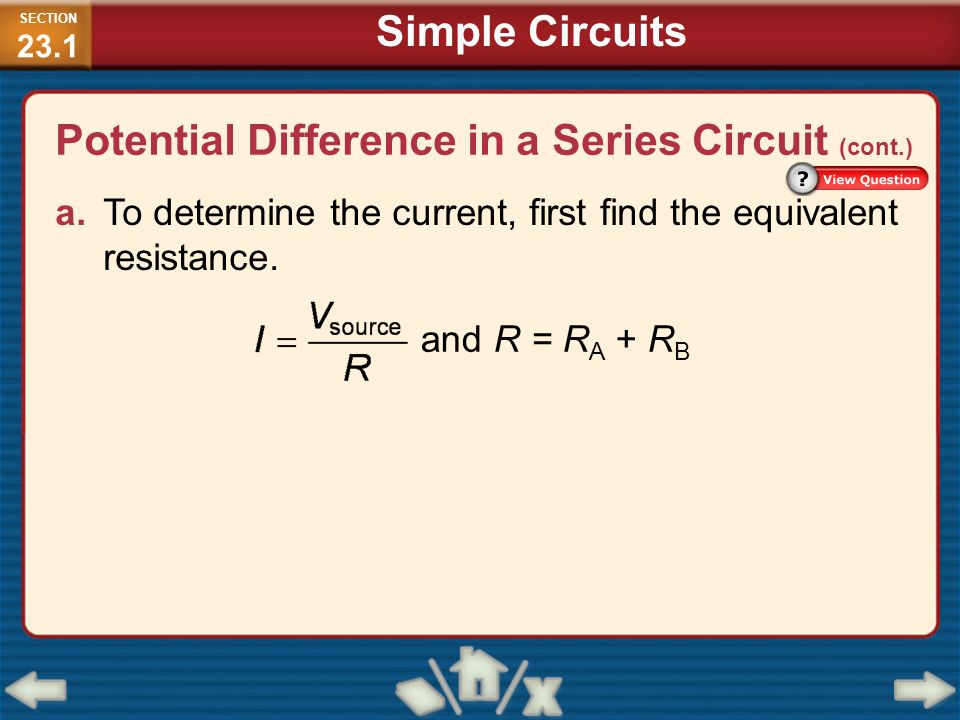 how to find the current in a simple circuit