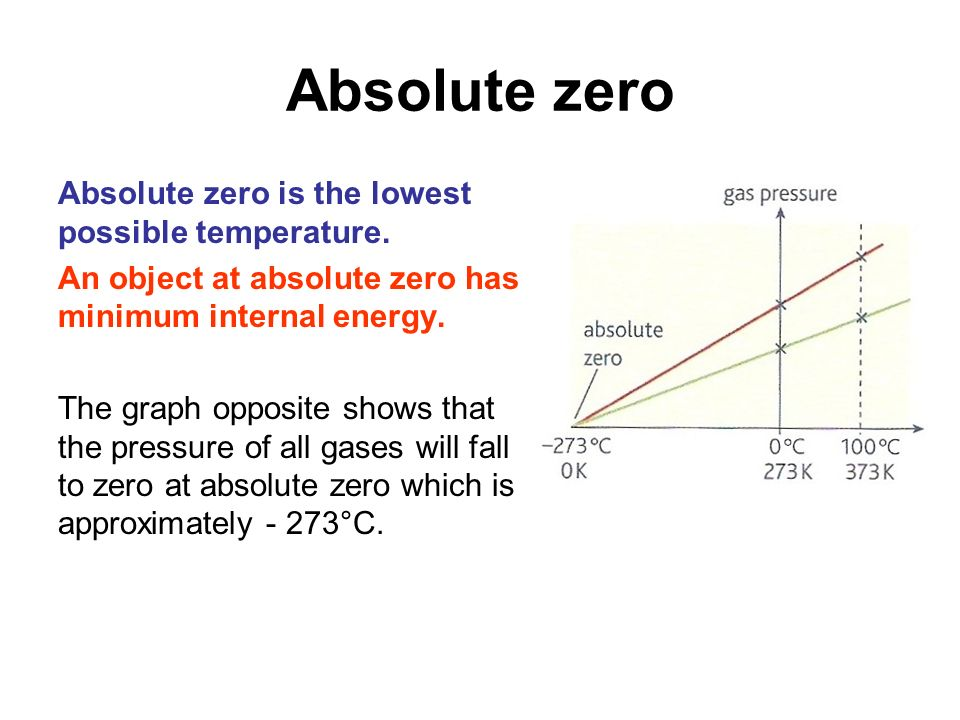 physics absolute zero Lets get down to the basic: before we start on what absolute zero means, we have to establish the fundamentals one of the elementary concepts in physics and chemistry is that when a given.
