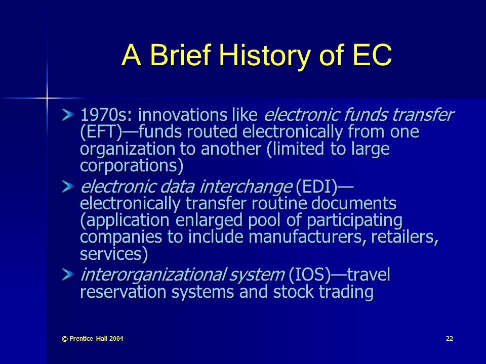 A Brief History of EC