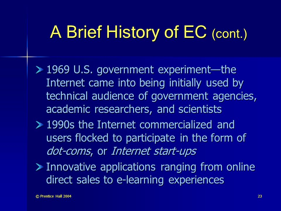 A Brief History of EC (cont.)