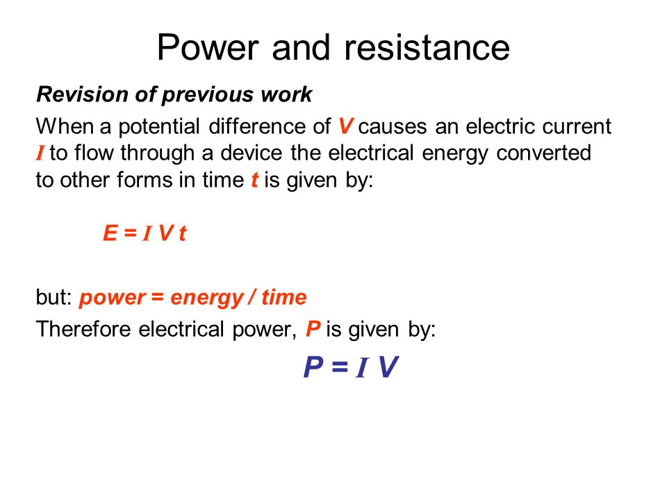 5 1 electric potential difference  current and resistance