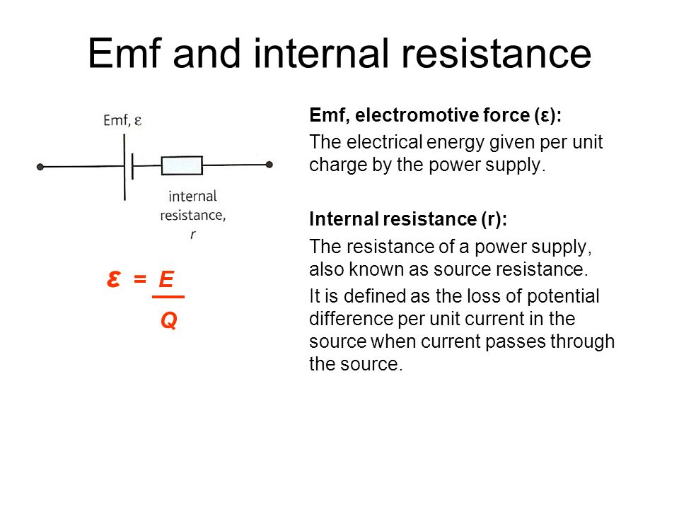 Emf and internal resistance coursework
