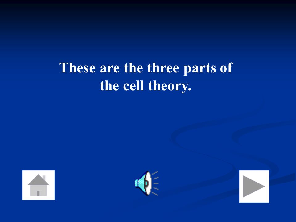 These are the three parts of the cell theory.