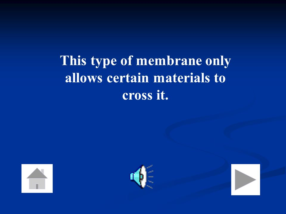 This type of membrane only allows certain materials to cross it.