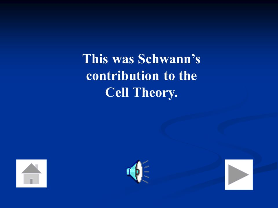 This was Schwann's contribution to the Cell Theory.