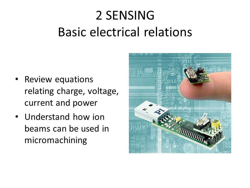2 SENSING Basic electrical relations - ppt video online download