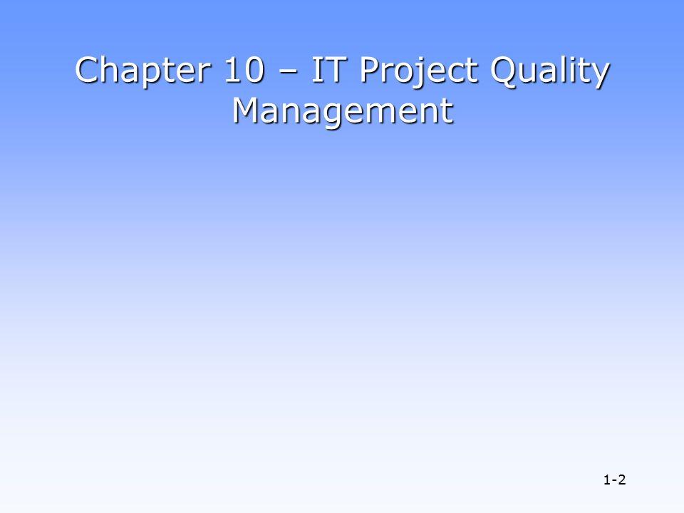 quality management 10 Establishing quality management systems  apr 06 oct 06 aug 07 jan 09 jan 10 sep 10 strategic goals (ia):  quality management • quality manager.