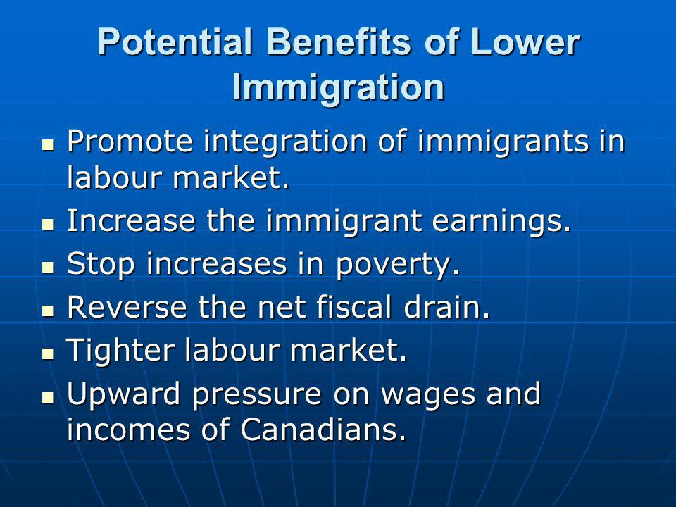 Potential Benefits of Lower Immigration