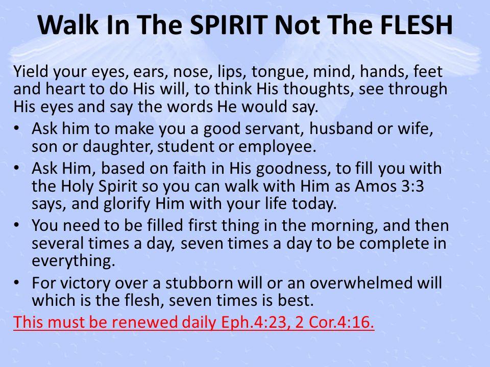 Walk In The SPIRIT Not The FLESH
