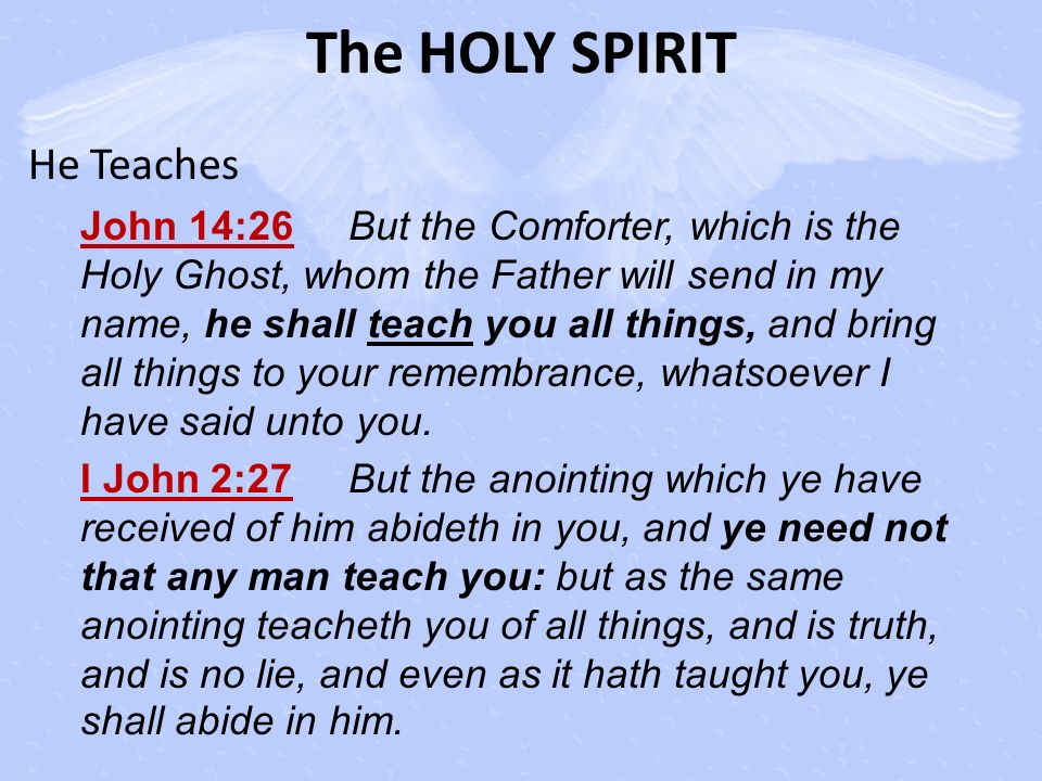 The HOLY SPIRIT He Teaches