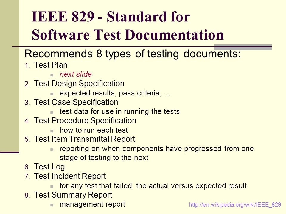 IEEE 829 Standard Test Summary Report Template YouTube - mandegar.info