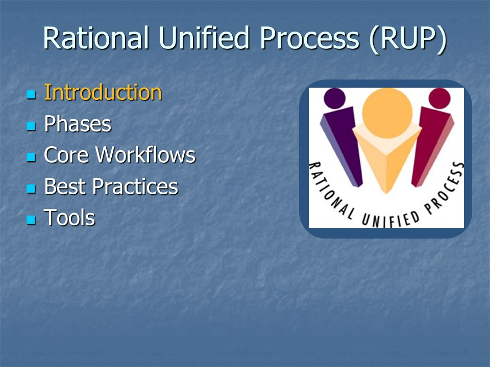 rup best practices The rational unified process(rup) was developed through the 1990's as a framework for software engineering best practices features such as iterations, simplicity.