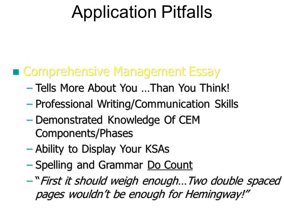 professionalism in emergency management ppt  application pitfalls comprehensive management essay