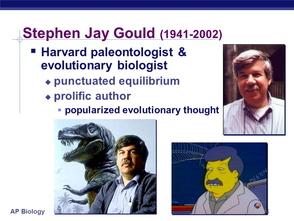 a biography of stephen jay gould a paleontologist Extract gould, stephen jay (10 september 1941–20 may 2002), paleontologist,  was born in queens, new york city, the son of leonard gould, a court.