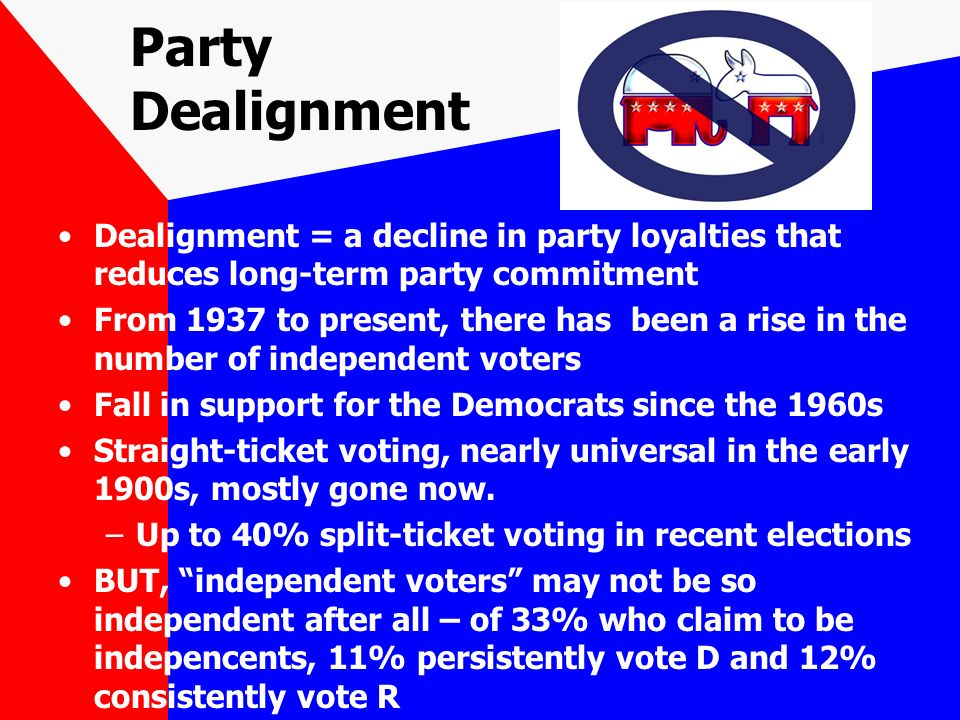 party dealignment in the era of divided government