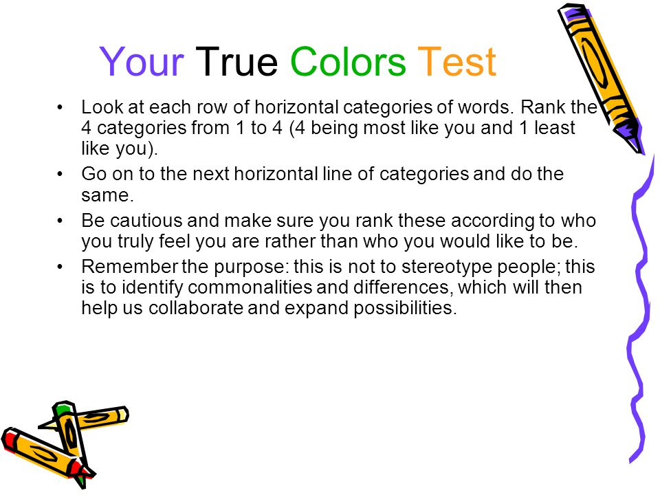 What Are Your True Colors Ppt Video Online Download