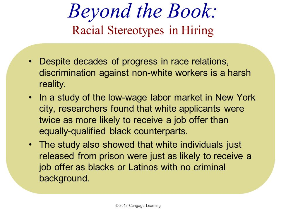 discrimination in a low wage labor market Sydney s spivack program in applied social research and social policy the labor marketis a set of arrangements through which workers learn about jobs and employers learn about workers.