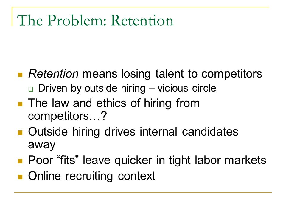 talent acquisition and retention essay The answer is employing new talent acquisition strategies internally and externally and 8:15-9:15 employee financial wellness as a talent attraction and retention.